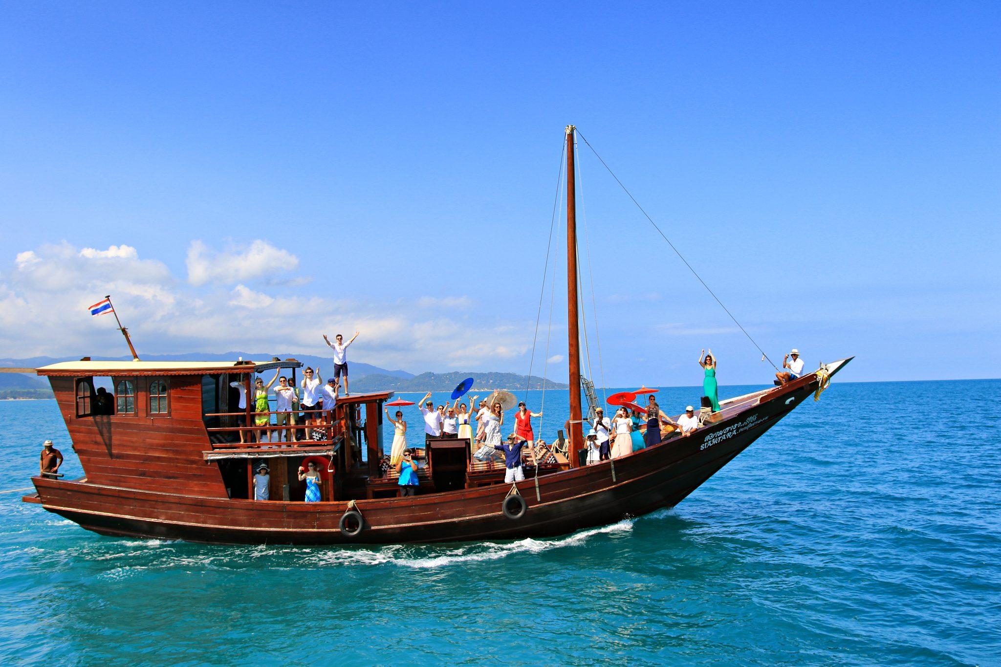 Traditionnelle Jonque Birmane